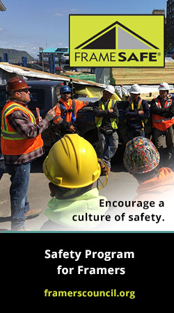 Encourage a culture of safety with the FrameSAFE safety program for framers